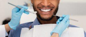 man visiting dentist in Marion